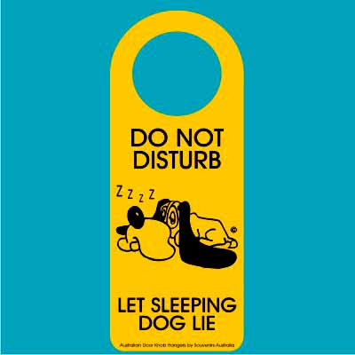 Door Hanger Sleeping Dog