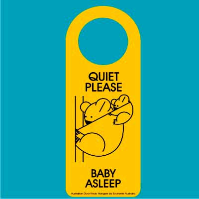 Door Hanger Baby Asleep