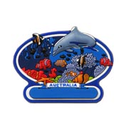 Rubber Tropical Reef Magnet
