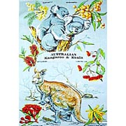 Kangaroo & Koala Tea Towel