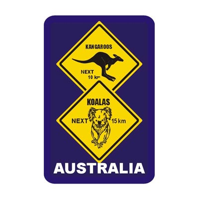 Playing Cards Roadsign Koala & Kangaroo