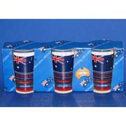 3-Pack Aussie Flag Shotglasses