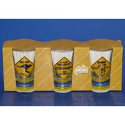 3-Pack Crocodile/KangaRoo/Koala Roadsign Shotglasses