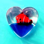 Magnet Water-filled Heart Shape Fish