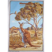 Kangaroo and Emu Tea Towel