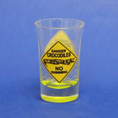 Crocodile Roadsign Shotglass