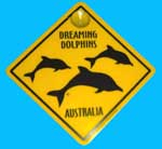 Suction Roadsign Dreaming Dolphins