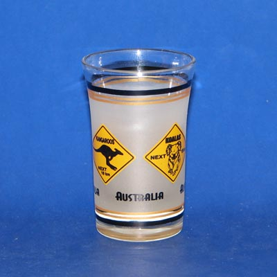 Gold Rim Roadsign Shotglass