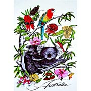 Koala Rosella Tea Towel