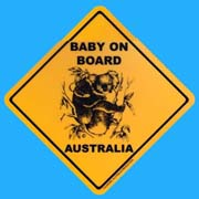Roadsign Magnet - Baby on Board