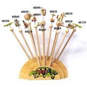 24 Painted Animal Novelty Pencil Set