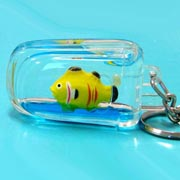 Keyring Liquid Mobile Phone Fish