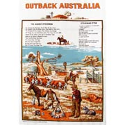 Outback Australia Tea Towel