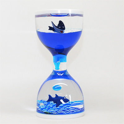 Liquid Timer with Shark and Stingray Floaters