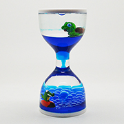 Liquid Timer with Croc and Turtle Floaters