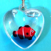 Keyring Liquid Heart Fish
