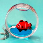 Keyring Liquid Round Fish