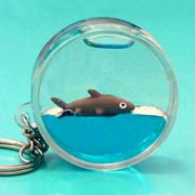 Keyring Liquid Round Shark