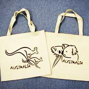 Canvas Bag Brush Art Koala Kangaroo