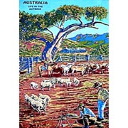 Life in the Outback Tea Towel