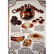 Cakes & Desserts Tea Towel