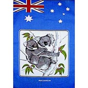 Flag & Koala Tea Towel