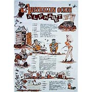 Ocker Alphabet Tea Towel
