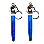 Keyring Pen Round Top Penguin