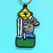 Keyring Rubber Koala with Roadsign