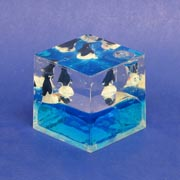 Paperweight Cube Penguin