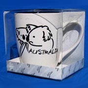 Mug - Brush Art Koala White