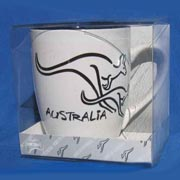 Mug - Brush Art Kangaroo White
