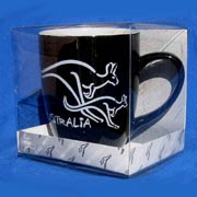 Mug - Brush Art Kangaroo Black