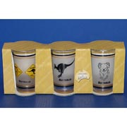 3-Pack Gold Rim Shotglasses