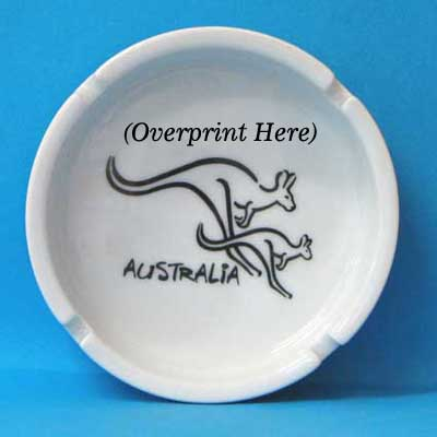 Ashtray Brushart Kangaroo White