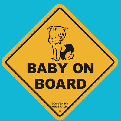 Suction Roadsign Baby on Board (Baby)