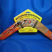 Returning Boomerang 14 inch, Handpainted