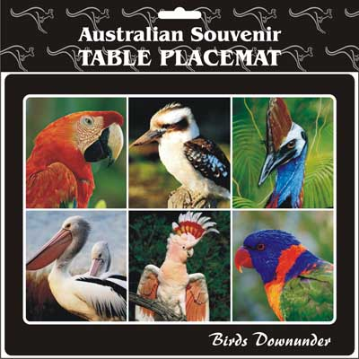 Cork Placemat Birds Downunder