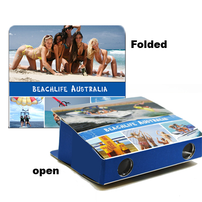 Foldable Binoculars, Beachlife Australia.  3XMagnification.