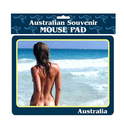 Mouse Pad Girl on Beach