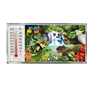 3D Thermometer Magnet Rainforest
