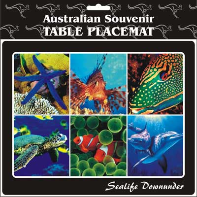 Cork Placemat Sealife Downunder