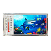 3D Thermometer Magnet Shark/Reef
