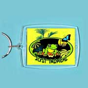 Acrylic Keyring Tropical Rainforest