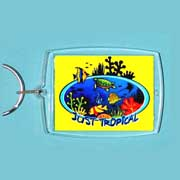 Acrylic Keyring Tropical Reef