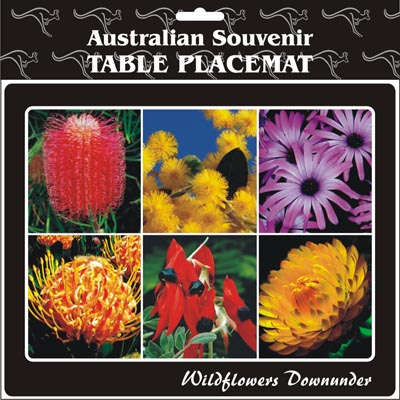 Cork Placemat Wildflowers Downunder
