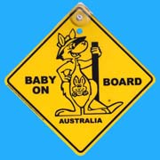 Suction Roadsign Kangaroo Baby On Board