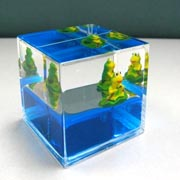 Paperweight Cube Frog