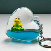 Keyring Liquid Heart Frog