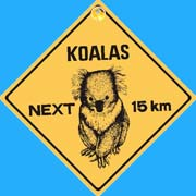Suction Roadsign Koala